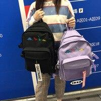 Unisex tuval seyahat sırt çantaları öğrenci Schoolbag ayakkabı çantası siyah menekşe XingYe12c