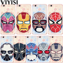 Funda suave para teléfono Cool Marvel Super Hero Mask para Xiaomi mi 8 mi A2 o mi 6X para Red mi 4A 6 Note 6 Pro 7 funda trasera suave Capa(China)
