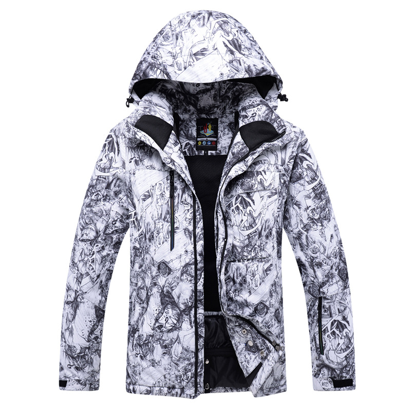 2019 new Winter jacket men/women Couple outdoor ski  waterproof warm thickening Anime printing suit