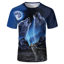2021hot Wolf stampa 3D animale Cool e divertente t-shirt-moda Casual da uomo manica corta-personalità top camicia da uomo Streetwear