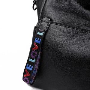 Image 5 - LONOOLISA фирменные сумки из натуральной кожи для женщин 2018, роскошные сумки, женские сумки, Дизайнерские Большие женские сумки на плечо, Основная сумка
