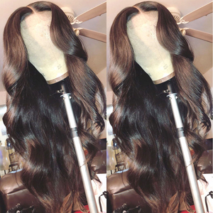 Image 2 - 180 Density Wavy Body Wave Lace Front Wig HD Transparent Lace Frontal Wigs T PART Lace Front Human Hair Wigs Remy Brazilian Wigs