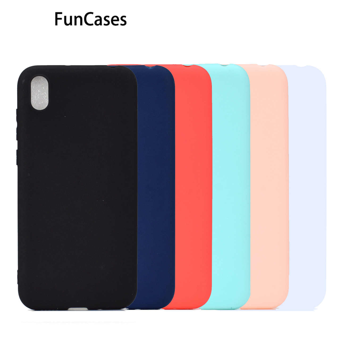 Plastic Gevallen Voor Case Huawei Honor 8S Effen Kleur Protector Soft Tpu Protector Sfor Huawei Carcaso Y5 2019 Honor 8A 8C 8X Max