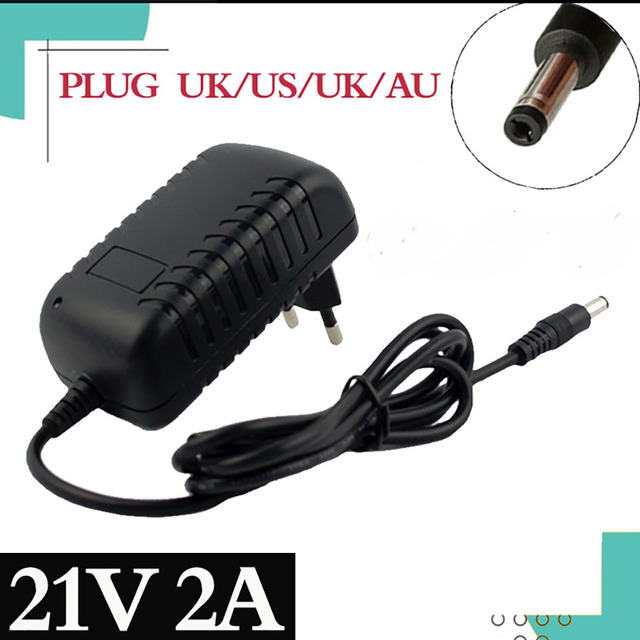 Special price 21V 2A Lithium Battery Charger Electric Screwdriver 18V 5Series 18650 Lithium Battery Wall Charger DC 5.5 * 2.1 MM
