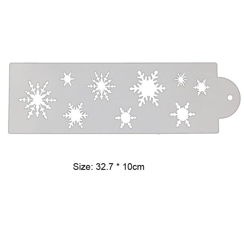 1pc Snowflake Stencils Decoration Template DIY Scrapbook Diary Doodle Painting Template Baking Tools Reusable