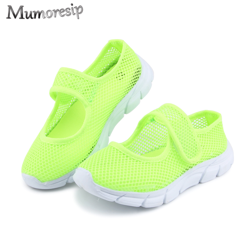 Boys Sandals Girls Summer Shoes Breathable Air Mesh Net Fabric Kids Beach Shoes Children Casual Shoes Candy Color 26-36 Cheap