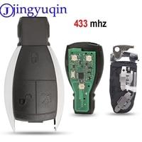 Jingyuqin Remote 433MHZ 3 Taste Schlüssel Fall Abdeckung Smart Key FÜR MERCEDES BENZ A B C E G R CL CLK E G GL M S SLK KLASSE Fob Control