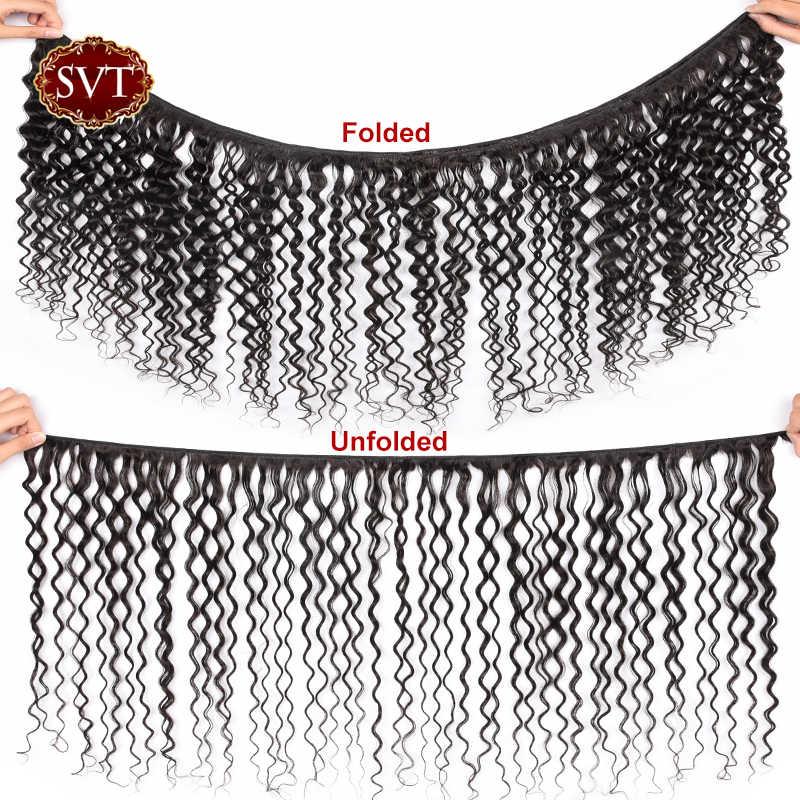 """SVT Haar Water Wave Bundels Kan Kopen 3/4 Bundels 8-26 """"M Peruaanse Haar Weave Bundels Niet- remy Menselijk Haar Bundels Natuurlijke Kleur"""