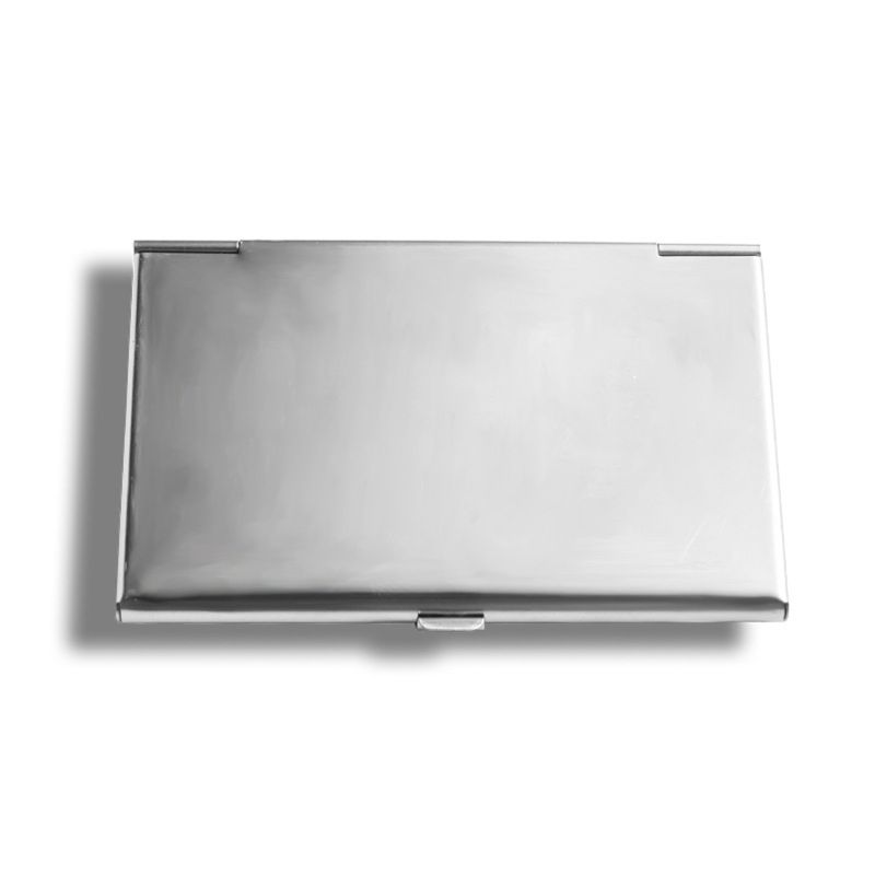 Pocket Stainless Steel & Metal Business Card Holder Case ID Credit Wallet Silver L41E