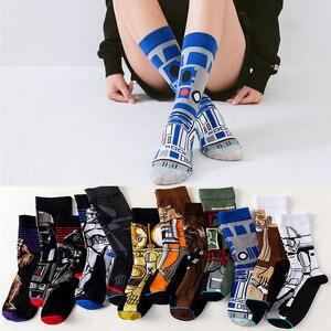 Носки для косплея из фильма «Звездные войны», «Sox Master Yoda», «R2-D2», «Wookiee», «Рыцарь Джедай», новинка, для мужчин и женщин, счастливые носки, весна,...