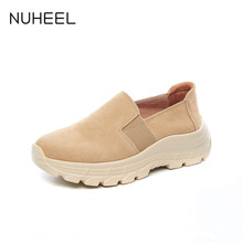 NUHEEL women's shoes summer one foot flat shoes women breathable Korean version of lazy casual shoes women