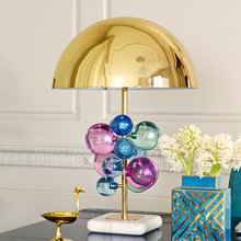 цена на Modern led Table Lamp Nordic Stained Glass Lamps Table Bedroombe Dside Table Lamps for Living Room Home Deco Lamparas Lighting