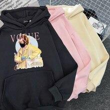 Primavera outono tratar pessoas com bondade hoodies S-3XL moda vogue princesa com capuz feminino casual punk carta moletom