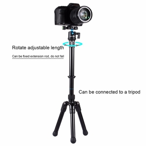 Image 4 - Retail Puluz For Camera Accessories Metal Handheld Adjustable 3/8 Inch Screw Tripod Mount Monopod Extension Rod For Dslr & Slr