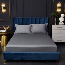 Egyptian cotton fitted bed sheet Mercerizing techn mattress cover protection cover silky sheet bed cover elastic band sheets