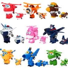 цена на 12pcs/set AULDEY Super Wings Deformation JETT Airplane Robot Action Figures Transformation Toys Doll for Children Birthday Gift