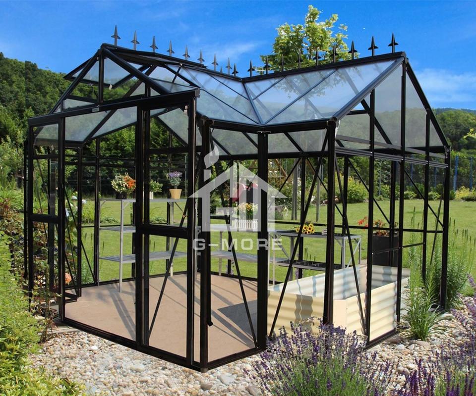T-shaped Aluminum frame green house outdoor Orangerie garden Greenhouse