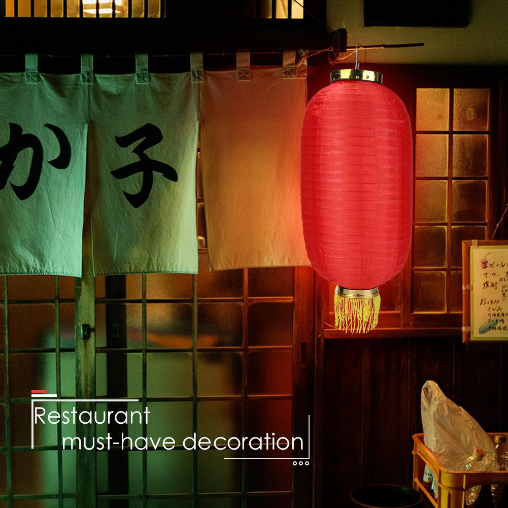 2 JAPANESE M 28cm RED BLACK LANTERN SUSHI FESTIVAL PARTY SHOP HOME DECORATION A4