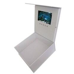 Boîte-cadeau vidéo 7 pouces | Carte de vœux, commande de lumière Lcd, carte de vœux, boîte cadeau vidéo, carte de vœux, cadeau de naissance de remise de diplôme