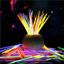 Party Fluorescence Colorful Glow In the Dark Fluorescence Glow sticks Bracelets Necklaces Festival Xmas Neon Glowstick Kids Toys