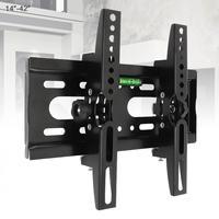 Staffa per montaggio a parete TV regolabile da 25KG supporto per telaio TV a schermo piatto inclinazione di 15 gradi con livello per Monitor LED LCD da 14 - 42 pollici