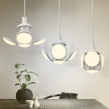 LED Football Lamp Bulb High Brightness Adjustable Angle Eye Protection No Flicker 40W E27 85-265V AC Folding Bulb