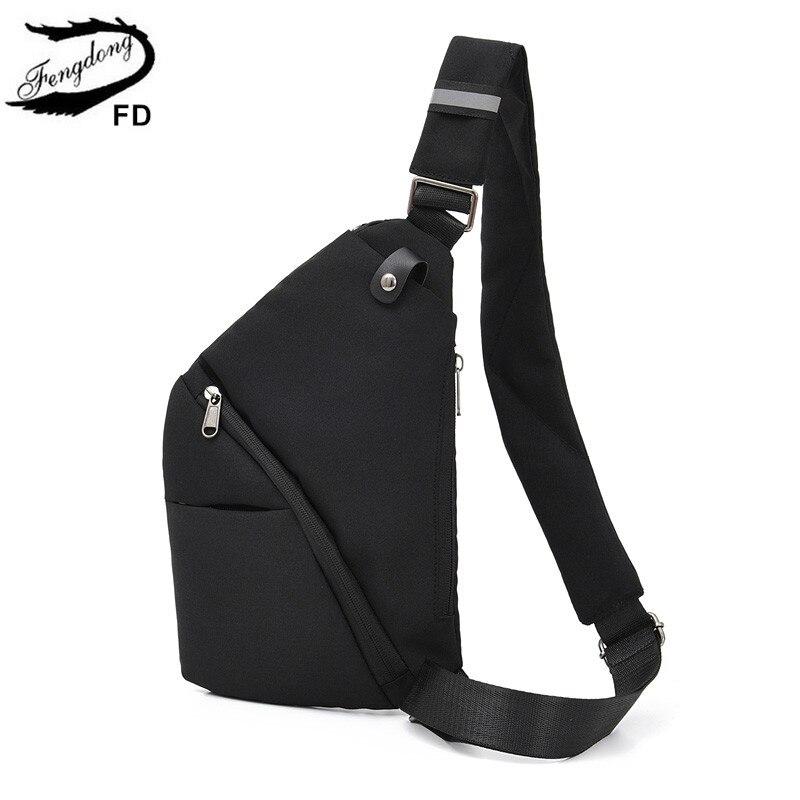 FengDong Small Anti-theft Crossbody Bags For Women Men Messenger Bags Mini Backbag Boy Sling Chest Bag Pack Ultrathin Travel Bag