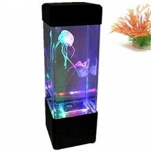 مصباح LED لحوض السمك على شكل قنديل البحر ، متوفر في 7 ألوان متغيرة