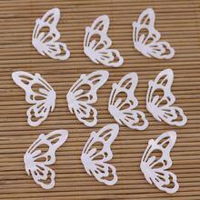 10 шт ракушка бабочка натуральная белая мама фоторяда Сделай