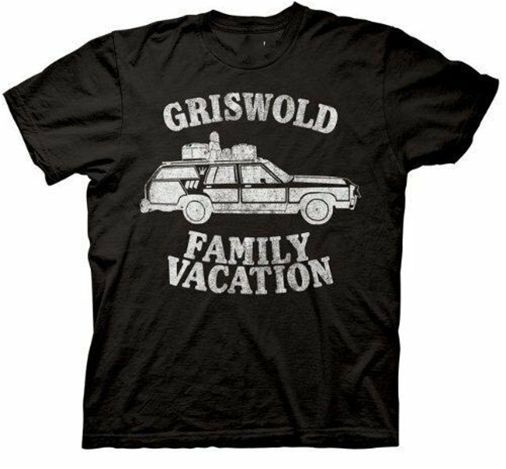 Adult Black Comedy Movie Christmas Vacation Griswold Family Vacation T Shirt Men Women Fashion Classic Tee Shirt image