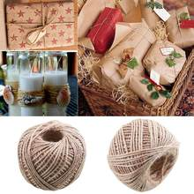Jute Twine String Natural Craft Floral Wedding Gift Tags Wrap Craft Decor New Rope 100M Soft Decoration Ornament Hot(China)