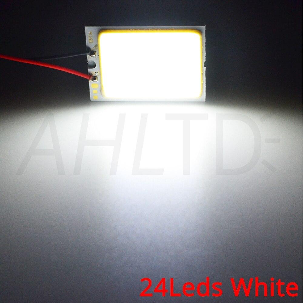 Hb9068fdc431b49b5b00393f61063e214V Car Led T10 C5W Cob 24 36 48SMD White Reading Car Led parking Bulb Auto Interior Panel Light Festoon License Plate light Bright