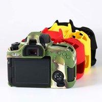 Silikon Kamera Fall Für Canon 200D II 5D4 5DMark IV 1300D 77D 80D 7D2 5D3 5DS 5DR 700D 650D 6D2 6D 80D 800D Haut Soft Cover-in Kamera/Video Taschen aus Verbraucherelektronik bei