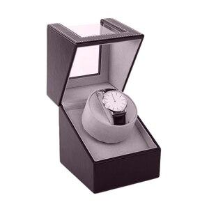 Image 2 - אחסון ארגונית ארון תצוגת מנוע שייקר מחזיק אוטומטי מכאני שעון המותח תיבת מתפתל מקרה בעל צבע חום