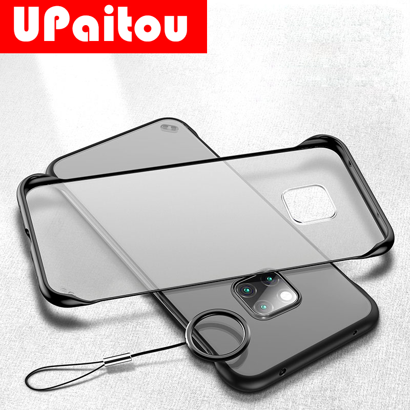 UPaitou Frameless Transparent <font><b>Case</b></font> For <font><b>Huawei</b></font> Honor <font><b>Mate</b></font> 30 20 <font><b>10</b></font> Pro <font><b>lite</b></font> 20X 10i View 20 V20 9X Pro 8X Max Hard Back <font><b>Cover</b></font> image