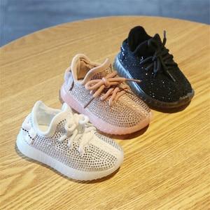 Image 5 - DIMI 2019 ฤดูใบไม้ผลิ/ฤดูใบไม้ร่วงเด็กทารกเด็กวัยหัดเดินรองเท้าทารก Rhinestone รองเท้าผ้าใบมะพร้าวรองเท้านุ่มสบายรองเท้าเด็ก