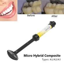 A1 2 3 Стоматологический микро Гибридный композитный оттенок