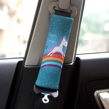 1 Pair/2pieces cute Cartoon Car Sefety Seat Belt cover Cushion Neck Pillow Vehicle Seatbelt Strap Harness Head Pad Cover
