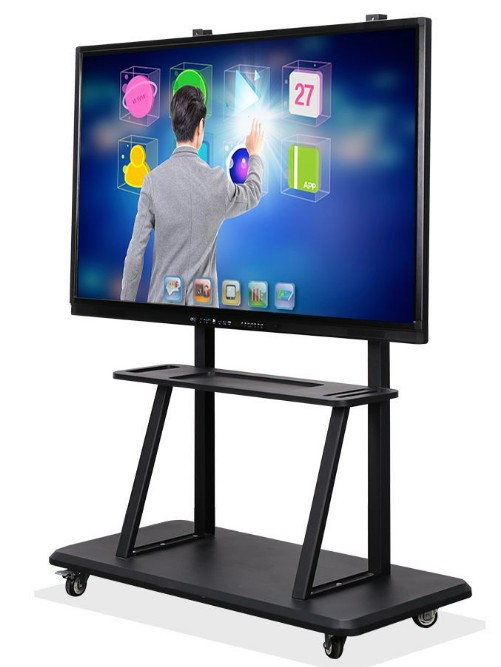 Lcd Monitor 84'' Inch Signage Tablet All In One Touchscreen Display With Pc Buit In Digital Teaching Black White Board