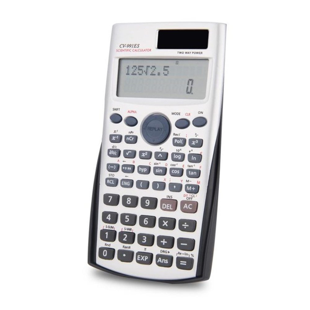 Scientific Calculator Muti-function Calculator Financial Accounting Tool with Two Way Power Calculator School Office Supplies image