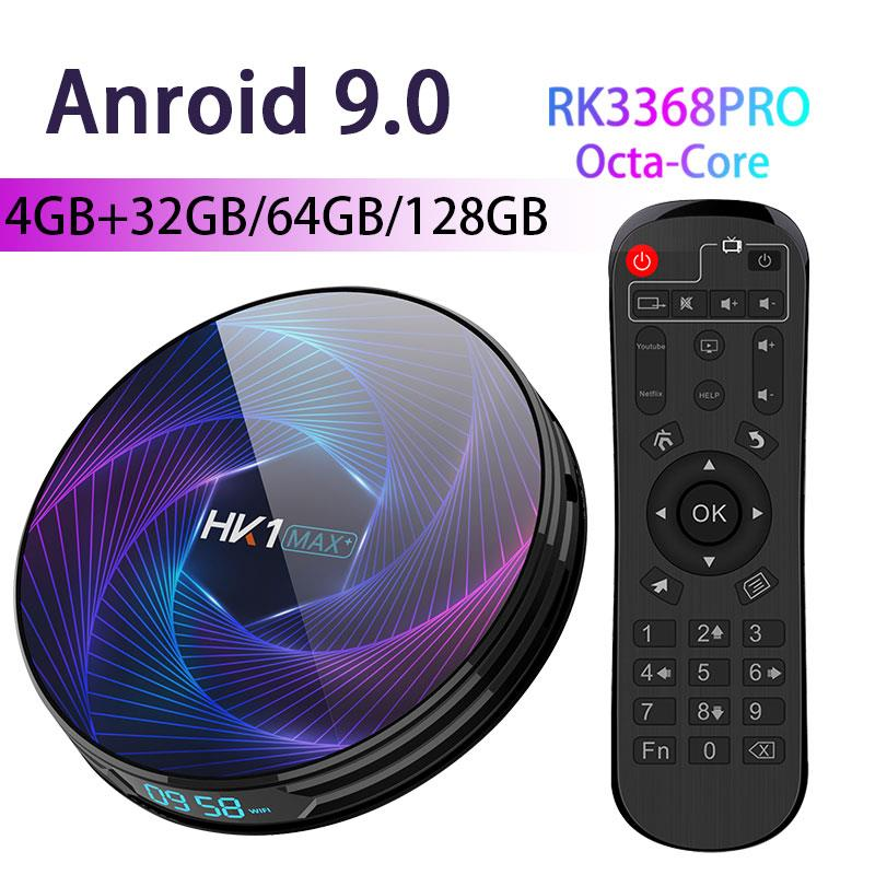 Transpeed Octa-Core Android 9.0 TV Box RK3368 PRO 64GB 128GB 4K Google Play Youtube Netflix High Performance CPU TV Box(China)
