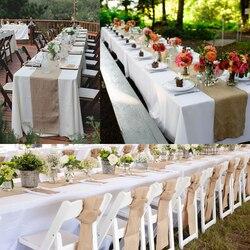 10M Vintage bieżnik juta wstążka jutowa Wedding Party Craft Decor wysokiej jakości bieżnik na stół pokrywa tekstylia domowe|Bieżniki|   -