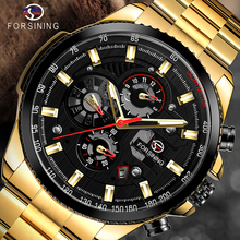 FORSINING Luxury Men Mechanical Watch men Automatic Multifunction Stainless Steel WristWatches Mens Male Clock Relogio Masculino