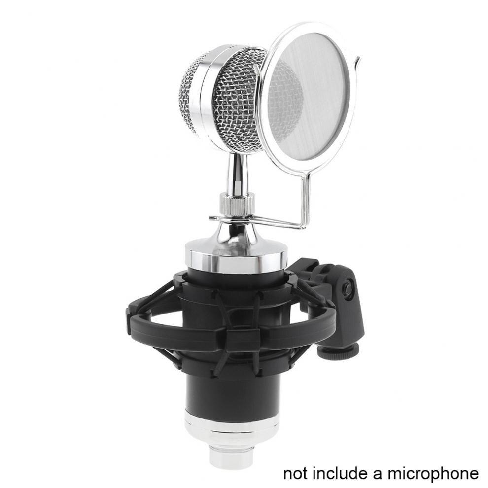 choque com dupla camada microfone pop filtro