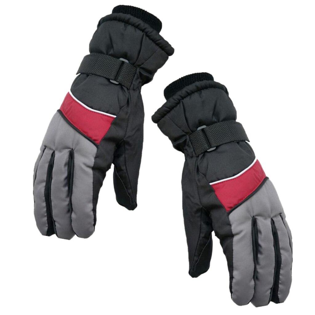 Men Women Winter Warm Ski Glove Waterproof Shoveling Cycling Snowboard Glove