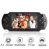 Giocatore del Video Gioco Console X6 per PSP Del Gioco Palmare Retro Game Schermo da 4.3 pollici Mp4 Giocatore del Gioco di Sostegno Della Macchina Fotografica, video, E-Book