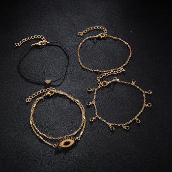 Five piece New Feshion  Small Tassel Bracelet Anklet Dual-use Suit Hot Bracelet Bangles Creative Women Jewelry 4