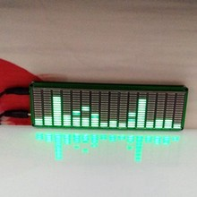 16 LED de nivel de música de espectro de Audio indicador amplificador de Color verde de velocidad ajustable con AGC modo KITS DIY(China)