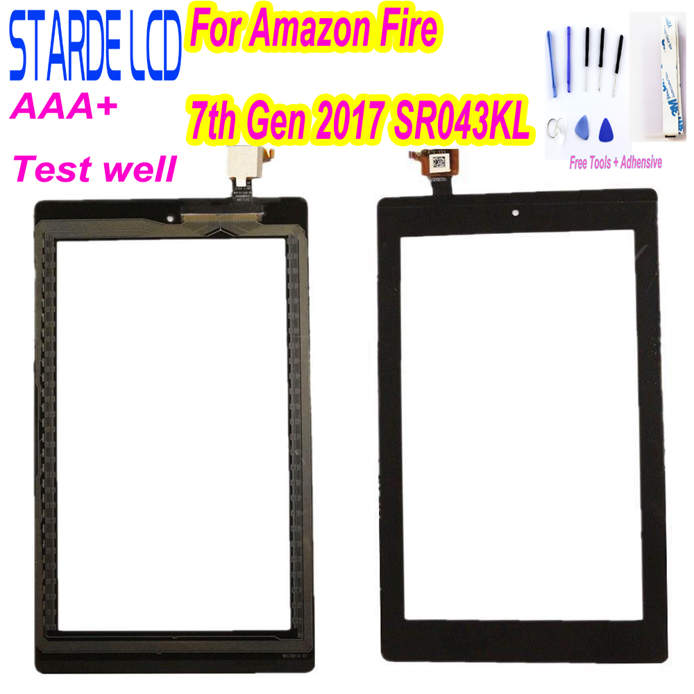 7 Inch For Amazon Kindle Fire 7th 2017 SR043KL Touch Screen Replacement Repair Part Not LCD With Free Tools And Adhensive