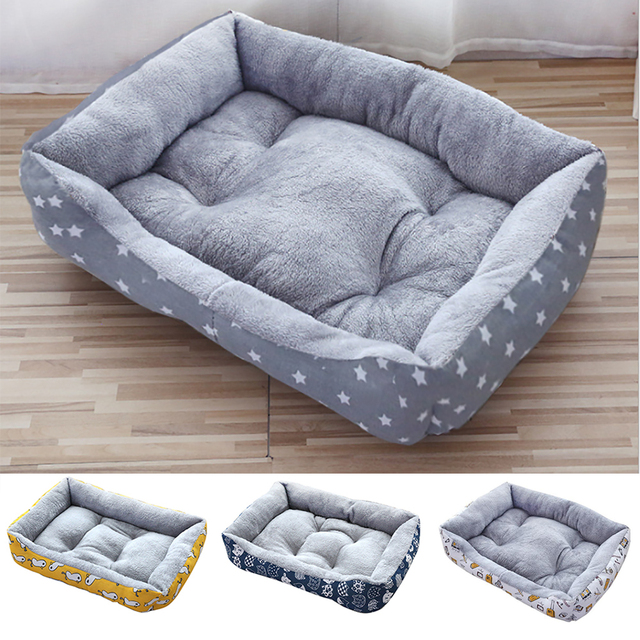 new Pet Cat dog Bed Warm Pet Products For Small Medium Large Dog Soft For Dogs Washable House For Cat Puppy Cotton Kennel Mat 1